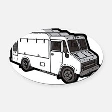 16_FoodTruck_Basic_Wht_Mid Oval Car Magnet