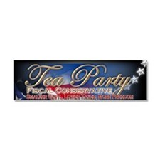 tea party Car Magnet 10 x 3