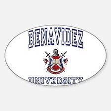 BENAVIDEZ University Oval Decal