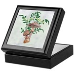Gold Spotted Mushrooms Star Flowers Keepsake Box