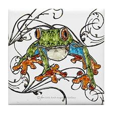 Gem Tree Frog Tile Coaster