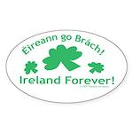 Ireland Forever Oval Sticker