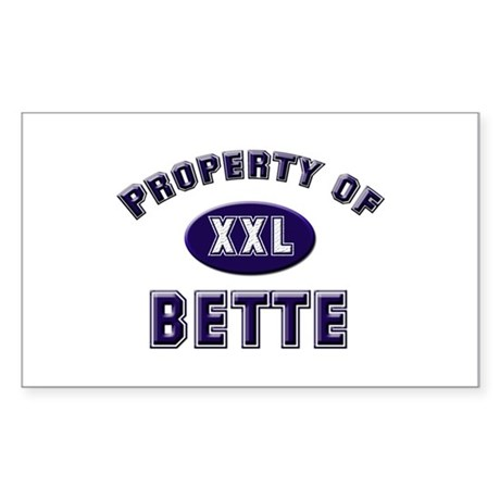 Property of bette Rectangle Sticker