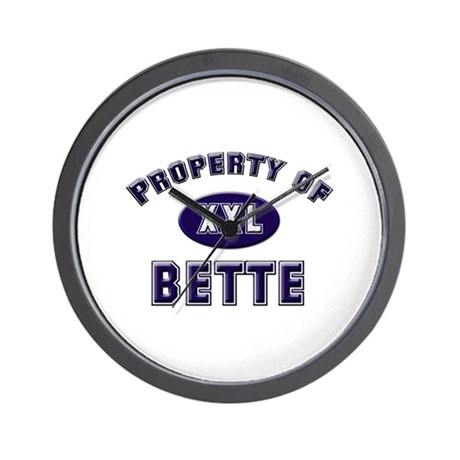 Property of bette Wall Clock