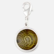 gravitationalwave Silver Round Charm