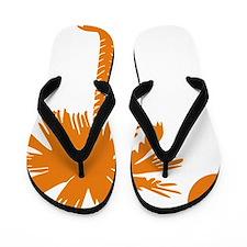 SC Palmetto  Crescent (2) orange Flip Flops