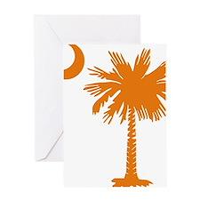 SC Palmetto  Crescent (2) orange Greeting Card