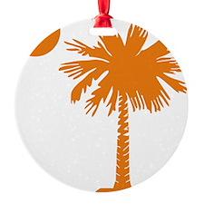 SC Palmetto  Crescent (2) orange Ornament