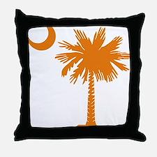 SC Palmetto  Crescent (2) orange Throw Pillow