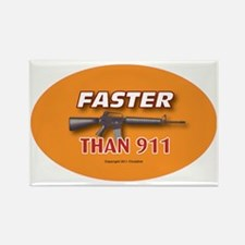 OTG 21 Faster than 911 Rectangle Magnet