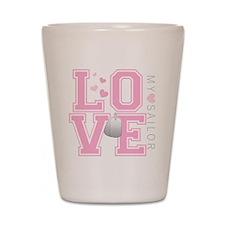 lovemysailor Shot Glass