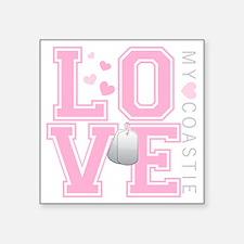 "lovemycoastie Square Sticker 3"" x 3"""