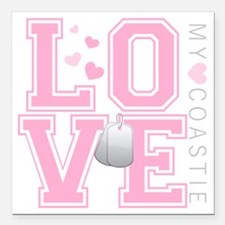 "lovemycoastie Square Car Magnet 3"" x 3"""