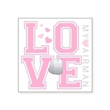 "lovemyairman Square Sticker 3"" x 3"""