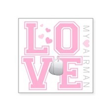 "lovemyairman Square Sticker 3"" x 3"""