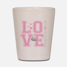 lovemyveteran Shot Glass