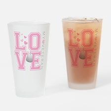 lovemyveteran Drinking Glass