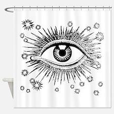 Big Eye Eyeball Weird Mystic Shower Curtain