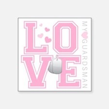 "lovemyguardsman Square Sticker 3"" x 3"""