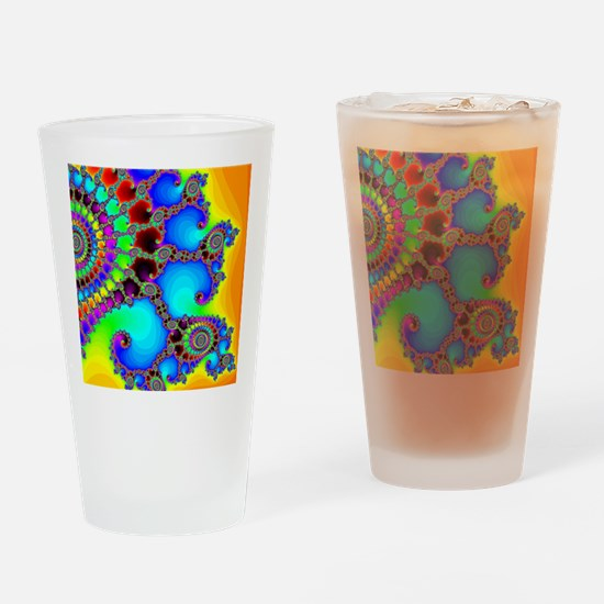 Colorful Coastline Drinking Glass