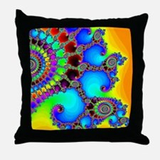 Colorful Coastline Throw Pillow