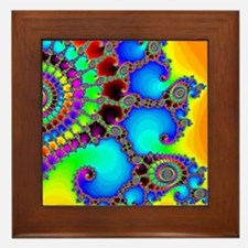 Colorful Coastline Framed Tile