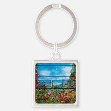 Tiffany Seascape Square Keychain