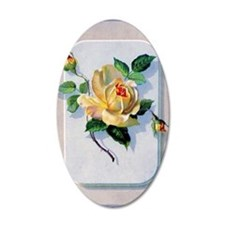 yellow rose vintage image gr Wall Decal