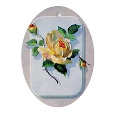 yellow rose vintage image graphicsfa Oval Ornament