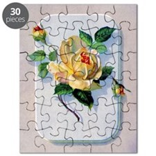 yellow rose vintage image graphicsfairy006b Puzzle