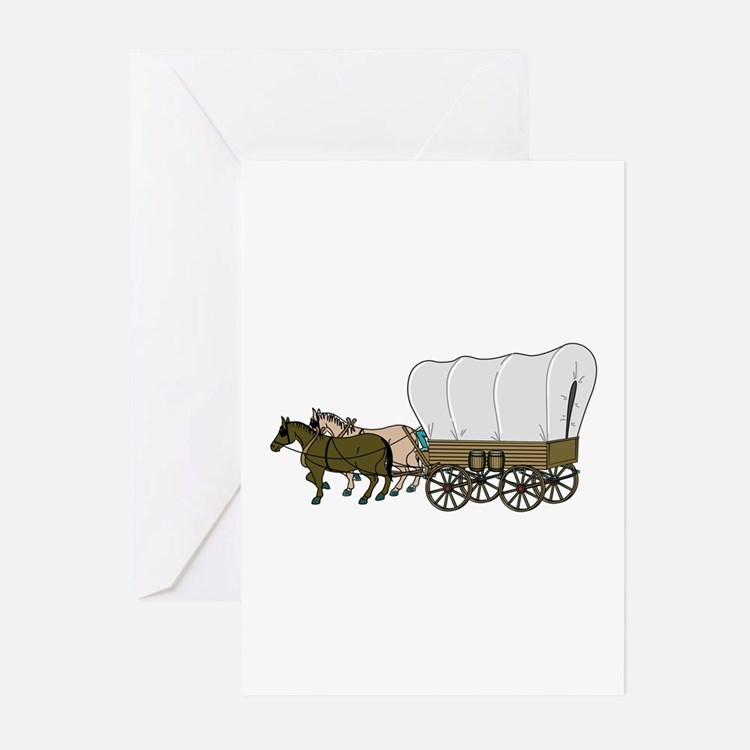 Covered Wagon Greeting Cards (Pk of 10)
