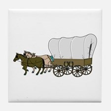 Covered Wagon Tile Coaster