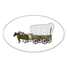 Covered Wagon Oval Decal