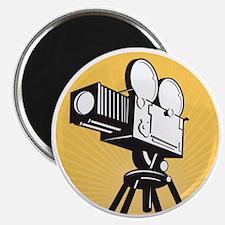 vintage movie film camera retro style Magnet