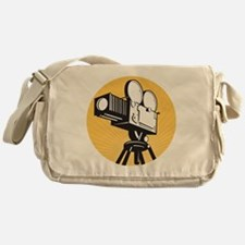 vintage movie film camera retro styl Messenger Bag