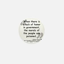 Hoover Morals Quote Mini Button