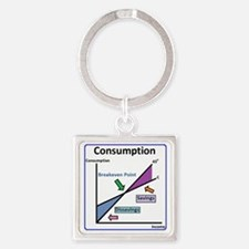 Consumption Square Keychain