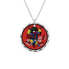 507th Airborne Infantry Regi Necklace Circle Charm