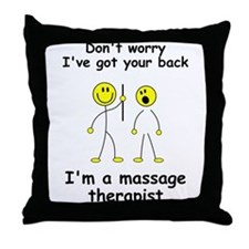 MUST HAVE for massage therapist Throw Pillow