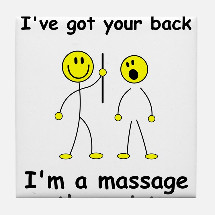MUST HAVE for massage therapist Tile Coaster