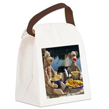 Morning Coffee - Red Heel Sock Mo Canvas Lunch Bag