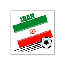 "Iran soccer  ball lt Square Sticker 3"" x 3"""
