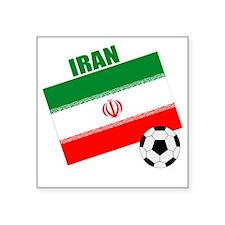 "Iran soccer  ball drk Square Sticker 3"" x 3"""