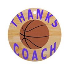 Thanks Basketball Coach Gift Mousep Round Ornament