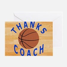 Thanks Basketball Coach Gift Mousepa Greeting Card