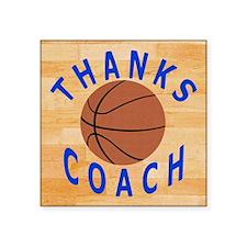 "Thanks Basketball Coach Gif Square Sticker 3"" x 3"""