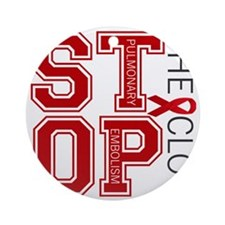 stoptheclot Round Ornament