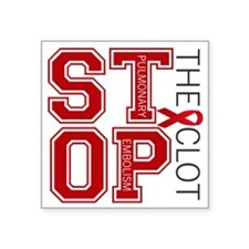 "stoptheclot Square Sticker 3"" x 3"""