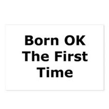 Born OK the First Time Postcards (Package of 8)