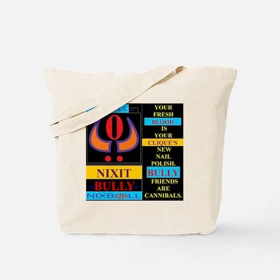 NAIL POLISH blk F Tote Bag